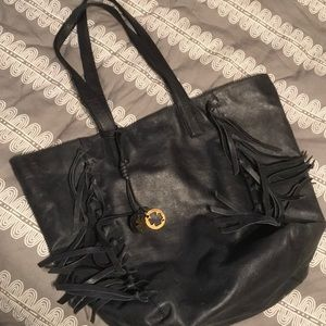 Handbags - Lucky Brand Leather fringe tote bag